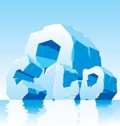 cold word vector image vector image
