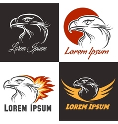 Eagle emblem set vector