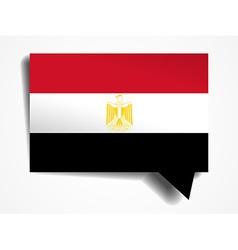 Egypt - paper 3d realistic speech bubble vector