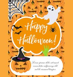 halloween poster happy halloween templates for vector image vector image