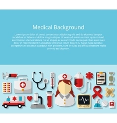 Health care and medical background vector