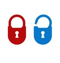 Lock unlock icon vector image