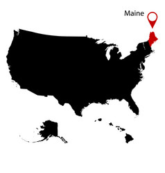 Map of the us state of maine vector