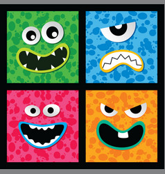 Monster character face vector