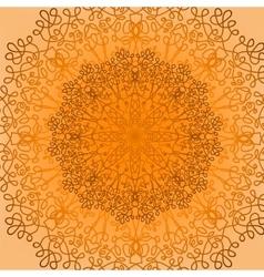 ound Ornamental Geometric Doily Pattern vector image