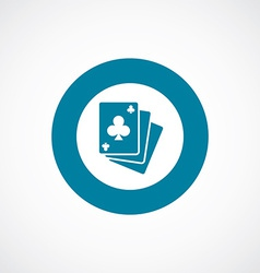Poker icon bold blue circle border vector