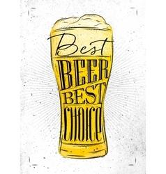 Poster best beer vector image vector image