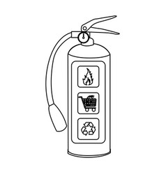 Sketch silhouette fire extinguisher icon vector
