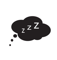 sleep icon on white background sleep sign vector image