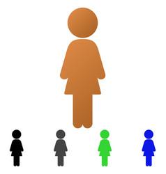 standing girl flat gradient icon vector image
