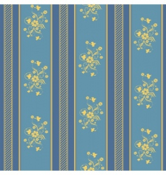texture stripped blue and gold vector image vector image
