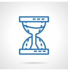 Time concept Sandglass blue line icon vector image
