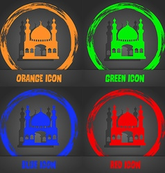 Turkish architecture mosque icon Fashionable vector image