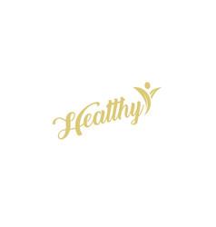 vegetarian and vegan symbol healthy organic vector image