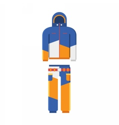 Winter sport suit vector