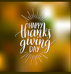 with happy thanksgiving day vector image