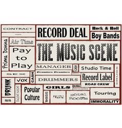 Music scene vector