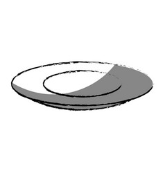 table dish isolated icon vector image