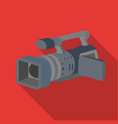 camcorder icon in flat style isolated on white vector image