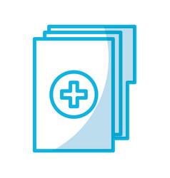Shadow medical history folder vector