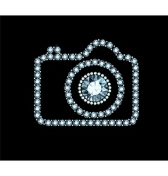 Diamond photo camera vector