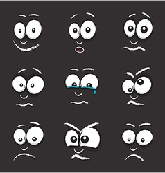 Cartoon black egg face vector
