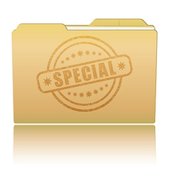 Folder with special damaged stamp vector
