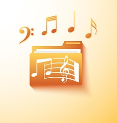 Musical notes folder vector