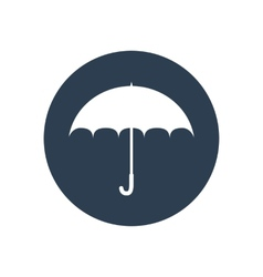 Umbrella flat icon safety protection rain autumn vector