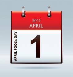 April fools day calendar vector image