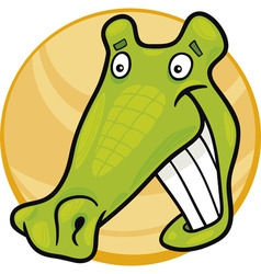 Cartoon illustration of funny crocodile vector