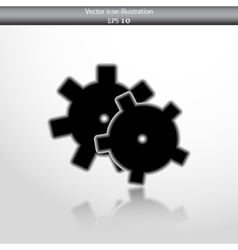 Icon of gears vector