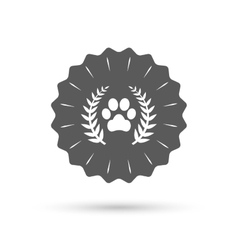 Winner pets laurel wreath sign icon vector