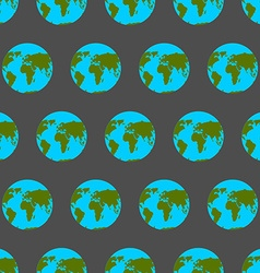 Planet earth with continents and oceans seamless vector