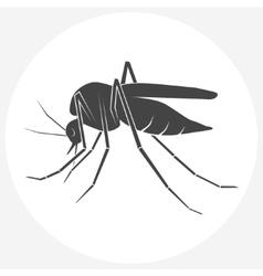 Mosquito silhouette icon vector