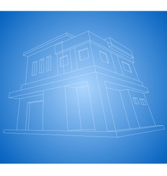 New house wireframe vector