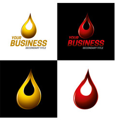 Automotive and industrial lubricants icon and logo vector