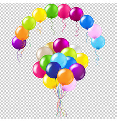 balloons colorful set vector image