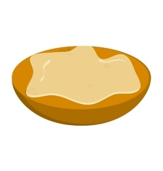 Bread slice with spread icon vector