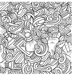 cartoon cute doodles spa massage seamless pattern vector image