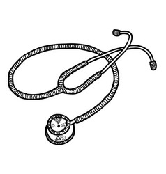 Cartoon image of stethoscope icon medical symbol vector