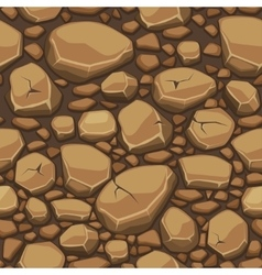 Cartoon stone texture in brown colors seamless vector