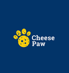 cheese paw abstract sign emblem or logo vector image vector image