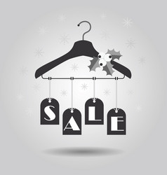 christmas holiday hanging sale tags on hanger vector image vector image