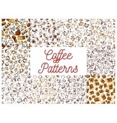 Coffee seamless pattern backgrounds vector