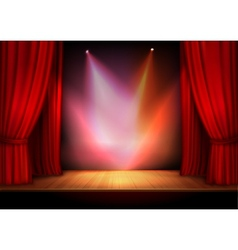 Curtain with lights vector image vector image