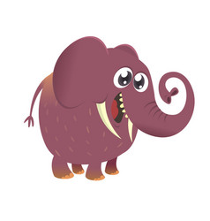 cute cartoon baby elephant icon vector image