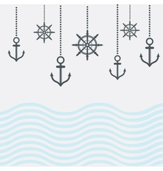 Design nautical template vector