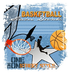 dunk basket ball vector image