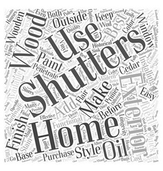 Exterior shutters word cloud concept vector